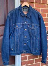 Vintage Levis No Big E Blanket Lined Trucker Indigo Denim Jeans Jacket Size 42