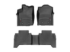 WeatherTech FloorLiner for Toyota Tacoma Double Cab 2018-2019 1st 2nd Row Black