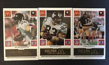1986 McDonald's Football Pittsburgh Steelers Complete Set (Black Tab)
