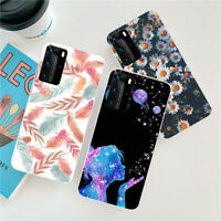 For Huawei P40 Lite E P30 P20 Pro P Smart Z Silicone Painted Soft TPU Case Cover