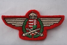 Rare Hungary Hungarian Republic Artillery Division Badge Patch Army Wing Crown