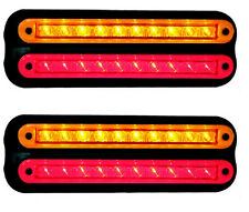TRAILER STOP/TAIL & INDICATOR STRIP X 2 LAMPS 12 VOLT 235 SERIES LED AUTOLAMPS