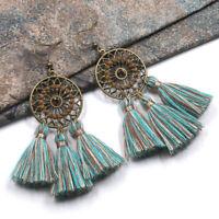 Women Long Tassel Fringe Earrings Bohemian Boho Dangle Earrings Fashion Vintage