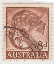 (W1381) 1959 AU 8d brown tiger cat (J)