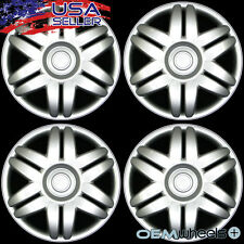 "4 NEW OEM SILVER 15"" HUB CAPS FITS INFINITI SUV CAR CENTER WHEEL COVERS SET"