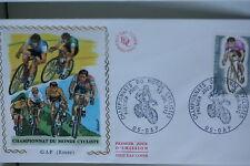 ENVELOPPE PREMIER JOUR SOIE 1972 CYCLISME GAP