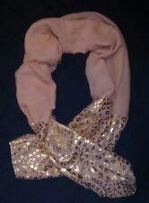 Damen Schal Tuch altrosa ,mit Goldmuster