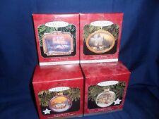 HALLMARK LOT OF 4 THOMAS KINKADE VICTORIAN CHRISTMAS 1&2 MAGIC LIGHT 1997-98 K09
