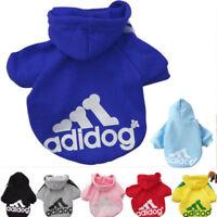 Dog Clothings Casual Adidog Pet Dog Clothes Warm Hoodie Coat Jacket suit