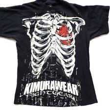 Kimura Wear Graphic Shirt Muay Thai Kick Boxing M Dog Fight Gear Heart
