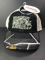 "Team Realtree Black Hat ""Reel Deal"" Fishing Beige Mesh Back Adjustable Cap"