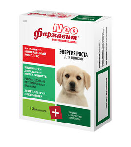 Vitamin mineral complex for puppies «Farmavit Neo» Growing power 90 tab