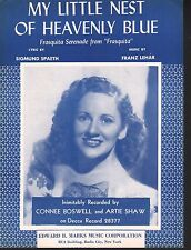 My Little Nest of Heavenly Blue Connie Boswell Sheet Music