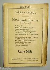 1941 McCORMICK DEERING INTERNATIONAL HARVESTER 9-CP PARTS CATALOG Tractor Plow