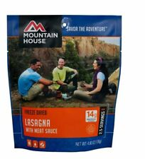 1 - Mountain House Freeze Dried Food Pouch - Lasagna with Meat Sauce- 2 Servings