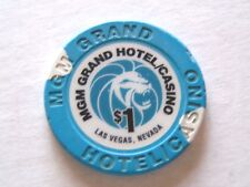 $1 Casino Chip MGM Grand Hotel Las Vegas $1 Clay Chip Stands on Edge Orig. Owner