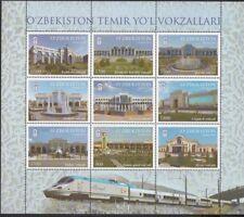 Train Uzbekistan Usbekisten 2018 MNH** 1301x KB Railway Station Bahnhöfe