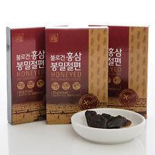 200g (10ea x 20g),100% Korean Red Ginseng Root Honeyed Slices, Saponin, Panax
