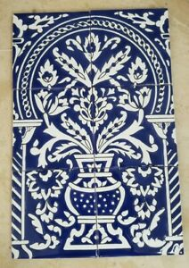 Magnificent Tunisia Azulejo Blue Mural Tile-Disrupted shipping