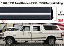 """72"""" Body Side Molding For 1987-1991 Ford F150 F250 F350 Bronco New Free Shipping"""