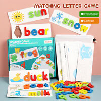 52Pcs Wooden Puzzle Alphabet Lower Case Set Word Learn abc  Educational Toy