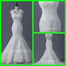 Organza Mermaid & Trumpet Cap Sleeve Wedding Dresses