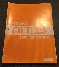 Suzuki ALT125 Factory Service Manual All Years OEM ALT 125 Factory Repair Paper