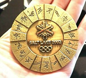 LARGE HEAVY BEAUTIFUL BOXED 2002 SALT LAKE OLYMPIC GAMES MEDAL NOT PIN BADGE