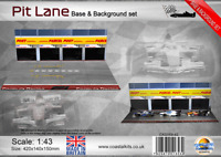 Coastal Kits 1:43 Scale Pit Lane Base & Background Set with attachment clips