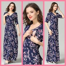 SALE! NEW MATERNITY BREASTFEEDING NURSING MAXI DRESS JILBAB SIZE M L 10 12 14 16
