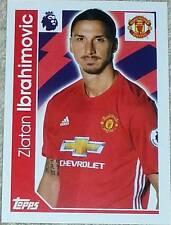 197 Zlatan Ibrahimovic MAN UNITED 2016/2017 Topps Merlin Premier League sticker