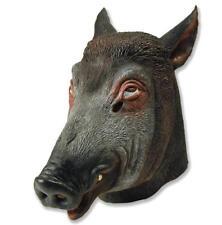 Boar Rubber Mask Fancy Dress Costume Outfit Prop Boars Head Pig