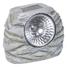 12 Outdoor Garden LED Solar Deco Rock Stone Spot Lights Landscape Lamp Yard Post