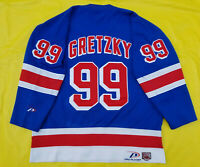 Wayne Gretzky New York Rangers Jersey nyr mens xl extra large Pro Player Blue