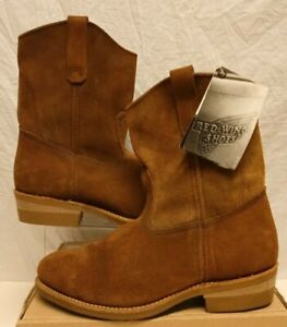 RED WING SHOES PULL ON SUEDE BOOTS 8255 PECOS PT99 USA 2006 RARE SIZE 8 EU 42
