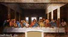 ZEIT4BILD LEONARDO DA VINCI Das letzte Abendmahl LEINWAND BILDER 120cmx40cm