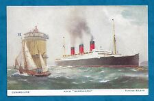 1930'S PC CUNARD LINE, R.M.S. BERENGARIA - ARTIST DRAWN