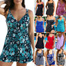 Plus Size Women Swimdress Swimsuit Tankini Skirted Swimwear Beachwear Bathing XL