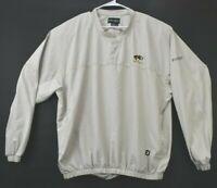Footjoy Mens 2XL XXL Missouri Tigers Embroidered Pullover Tan Golf Jacket