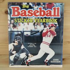 1986 TOPPS BASEBALL STICKER YEARBOOK ALBUM - 100% COMPLETE SET WITH ALL STICKERS