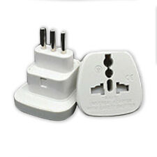 UK/US/EU/AU to Italy Uruguay Italian Plug Adapter AC Mains 3 Pin Travel Adaptor