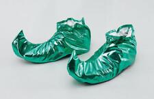 Verde Medieval Tribunal bufón cubiertas de zapatos de Duende Peter Pan Joker Pixie Fancy Dress