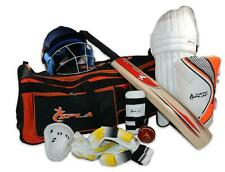 Splay Cricket Kit men complete set Bat ball pads gloves helmet legguard box bag
