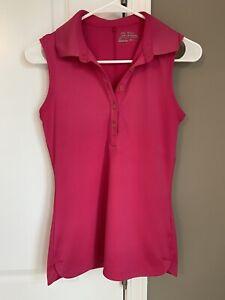 Nike Golf Women's XS Pink Sleeveless Polo Shirt Top