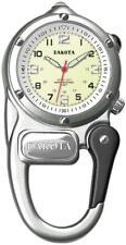 Dakota Mini Clip Microlight Watch Silver Aluminum Stainless Water Resistant 3807