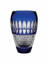 "WATERFORD CRYSTAL COBALT 8"" VASE ,COLLEN 60TH ANNIVERSARY PIECE BRAND NEW IN BOX"