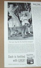 1953 print ad - Armour Dash dog food Cute little girl family Kerry Blue Terrier