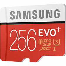 New Samsung EVO Plus 256GB Micro SD Class 10 95MB/s 4K Mobile Phone Memory Card
