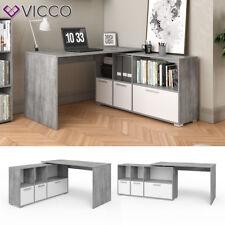 VICCO Eckschreibtisch Flex Computertisch Regal Sideboard Weiß Beton