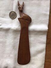 African Hand Carved Wooden Shoe Horn- Antelope *Made in Kenya*